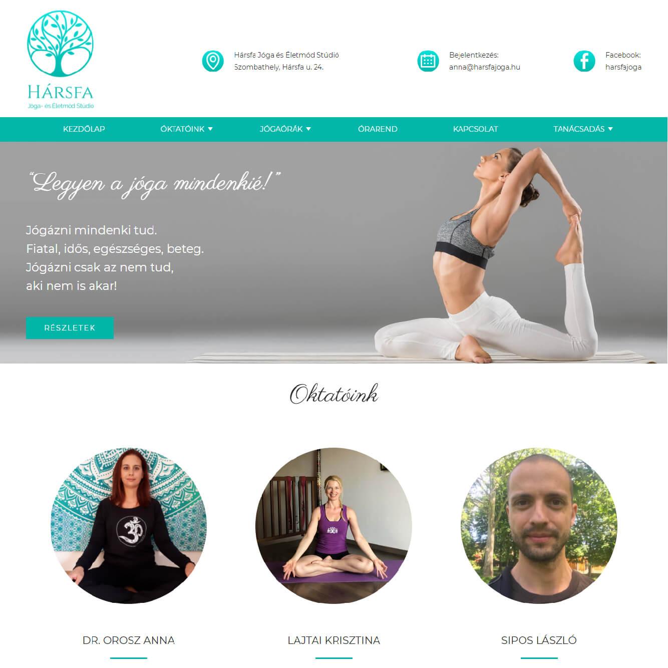harsfajoga.hu webdesign tervezés, holnapkészítés